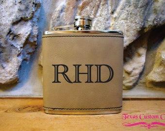 Personalized Flask, Laser Engraved Flask, Monogrammed Flask, Graduation Gift, Groomsman Gift