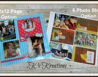 12x12 Scrapbook Album Pages, Page Protectors, Photo Protector Pages