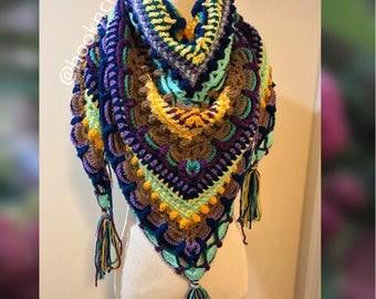 Lost in time shawl, scarf, wrap crochet