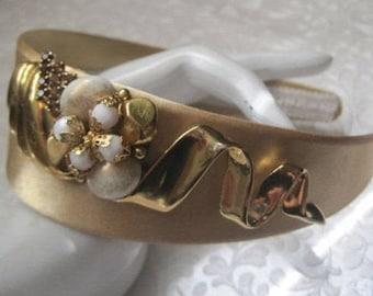 Hand Designed Headband, Vintage Jewelry Pieces, Vintage Assemblage, OOAK