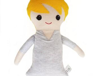Handmade boy rag doll, boy cloth doll, bot fabric doll, boy rag doll, heirloom doll, handmade boy cloth doll, handmade boy fabric doll