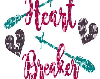 Heart Breaker SVG/PNG/DXF Digital Cut File