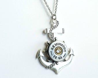 Anchor Nautical Necklace - Diamond - Nautical Necklace - Bullet