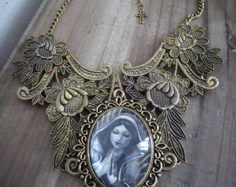 Maxi collar lace bib Golden goth ♰ Virgin ♰