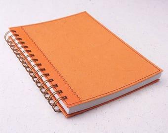 A5 Blank Notebook Orange / Sketchbook / Art Journal / Orange Spiral Bound Notebook / Recycled Notebook / unlined notebook / unlined journal