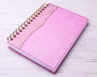 Blank Notebook Pastel Pink / pale pink journal / recycled notebook / sketchbook / unlined notebook / art journal / pretty notebook