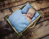 Blue Dream Wool Fluff, Fluffy Photo Prop, Wool Cloud Newborn Photo Accessory, Wool Basket Stuffer, Blue Wool Basket Liner