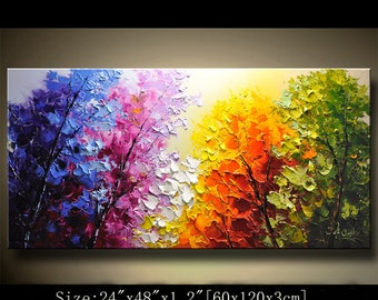 wall artpalette knife landscape decorhome - Oil Painting