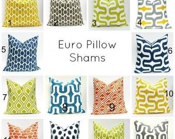 15% Off Sale Euro Pillow  Navy Euro pillow, Euro Pillow Case, Euro Sham, Cushion Cover,  pillow sham euro, Decorative pillow,  Euro shams