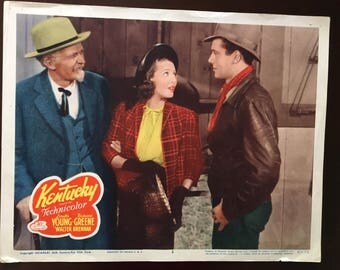 "Movie photo from ""Kentucky"" with Loretta Young and Walter Brennan."