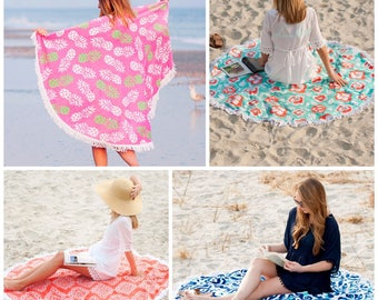 Monogrammed Sand Circle, Round Beach Towel, Circle Beach Towel, Monogrammed gifts, Bridesmaid gifts, Monogram Beach Towels
