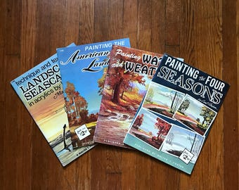 Walter T. Foster Painting Books - Landscape, Seascape, Water and Weather, The Four Seasons