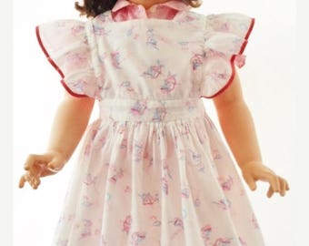"""ON SALE Vintage 1955-1961 Patti Playpal Doll, 35"""" Tall, Hard Plastic, Large Doll, Wearing Vintage Little Girls Clothes, Replacement Shoes, D"""