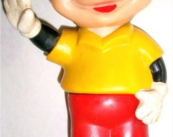 ON SALE Vintage waving Mickey Mouse rubber/plastic standing collectible toy Childs Toy Disney Collectible