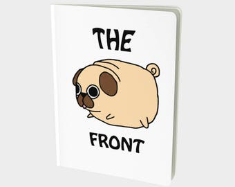 Cute Pug dog notebook, diary, journal, school book just and everyday kinda book!!
