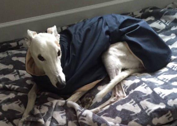 """Whippet fleece lined raincoats 26"""" long readymade."""
