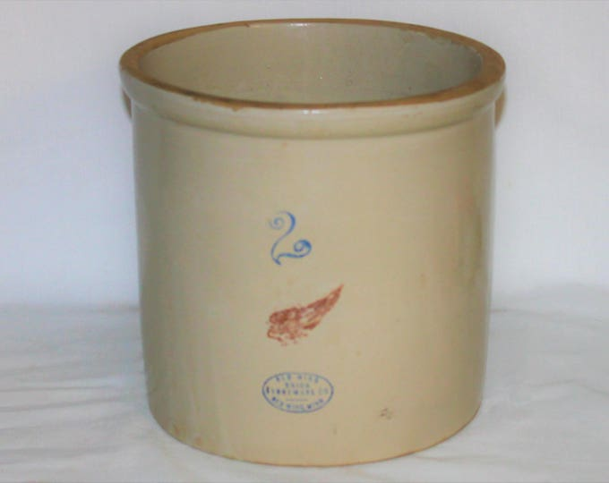 Vintage Red Wing Union Stoneware Company Two Gallon Crock, 2 Gallon Crock