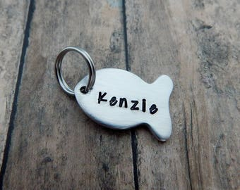 Fish Name Charm Add On - Name Charm for Key Chain - Keychain Name Charm - Fishing Key Chain Charm Add On - kg2347