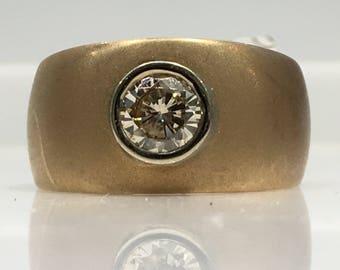 Handmade Vintage Argyle Diamond Ring in 14K Gold