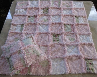 5 DIFFERENT Instructions!!!RAG Quilt, 2 Size Quilt, Heart Quilt, Rag Tote, Changing Pad, Bib and Burp Cloth PATTERNS BaBY Sew Easy to Make