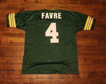 Green Bay Packers Jersey CHAMPION 4 Brett Favre NFL football Jersey 48