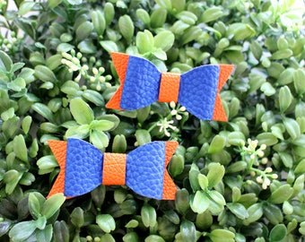 Gator Hairbow, Gators Hairbow Headband, Faux leather bow headband, baby bow headband, baby headband