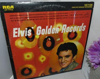 Vintage 1958 Vinyl Record LP 33RPM Elvis Golden Records RCA LSP-1707e Victor Stereo Effect Reprocessed from Monophonic