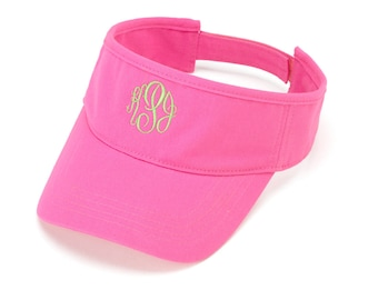 Personalized Visor, Monogrammed Visor, Women's Sun Hat, Golf Gifts For Women, Personalized Gift, Bridesmaid Gift, Gifts Under 20