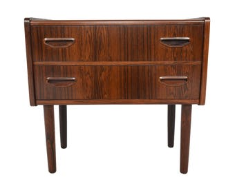 Danish Modern Mid Century Two Drawer Rosewood Chest