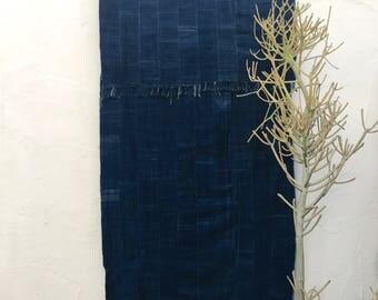 Mossi Cloth African Fabric   Vintage Textile Indigo Mudcloth African Indigo Cloth African Fabric Indigo fabric Indigo Throw Beach Blanket 12