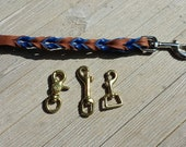 """Royal and Tobacco 6' leash, 5/8"""" brass snap"""