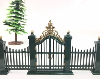 Dept 56 Wrought Iron Gate and Fence Department 56 Village Gate and Fence Dept 56 Gate and Fence Dept 56 Fence Easter Village Accessories