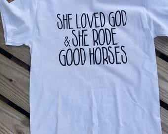 Horse shirt // Christian Shirt // God and horses shirt // Horse gift idea // Equestrian Shirt // Barn shirt // Equestrian gift idea