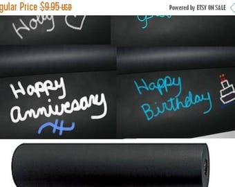 On Sale 30 Feet Black Kraft Chalkboard Wrapping Paper Roll, Eco Friendly Gift Packaging, Paper Table Runner Anniversary Gift Wrap, Gift Pack
