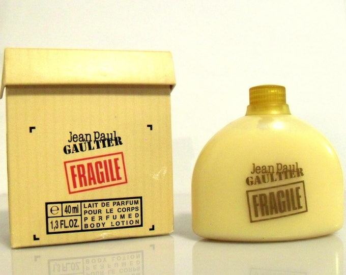 Vintage Fragile by Jean Paul Gaultier 1.3 oz Perfumed Body Cream in Box Travel Size