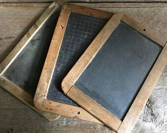 French Slate Chalkboard, Antique Schoolhouse, Cafe Message Board, French Farmhouse