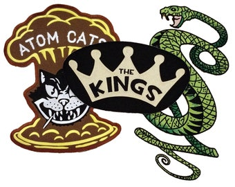 3-pack Combo Tunnel Snakes Atom Cats Kings patches 3 for the price of 2