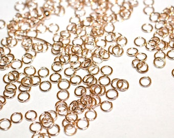 150 Copper finished Jump rings-4mm-open/close links