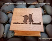 music box, wooden music box, sisters, sisters gift, twins, christmas gift for sister, maid of honor gift, best friend gift, girls, christmas