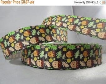 Fall Leaves Ribbon, Thanksgiving ribbon, leaves, fall, Fall ribbon, grosgrain ribbon, 1 Inch Ribbon, RN17024