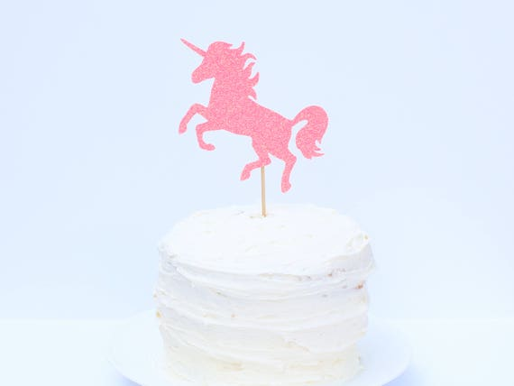 Unicorn Cake Topper - Glitter - First Birthday. Smash Cake Topper. Unicorn Party Decor. Unicorn Decorations. Unicorn Cake Topper. Cake Decor