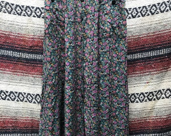 Vintage 90's Floral Skirt: Small
