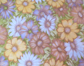 Half Yard of Vintage Sheet Fabric - Muted Floral