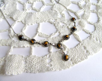 Tiger Eye Necklace from India.