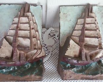 Clipper Ship Bookends