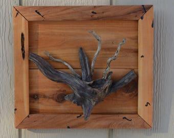 Driftwood in a Cedar Rustic Picture Frame