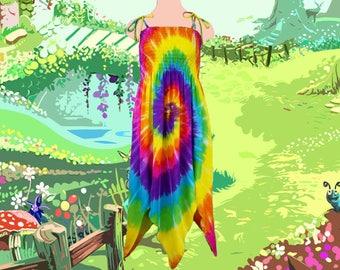 Rainbow Spiral Fairie Dress