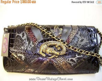 60% OFF Clearance Sale Original by Sharif Black Reptile Leather Purse NWT