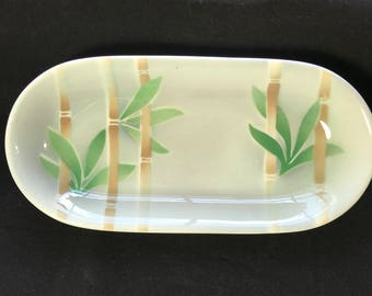Celery Dish, Bamboo, Syracuse China, Restaurant ware, vintage, diner