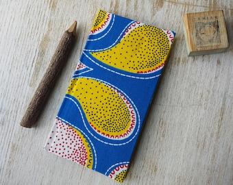2018 Slimline weekly Diary Planner Calendar Agenda African Print Vibrant Unique Original Hardback - Ankara Kitenge Wax Capulana Print